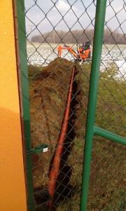 Výkopové práce - přívod trativodu